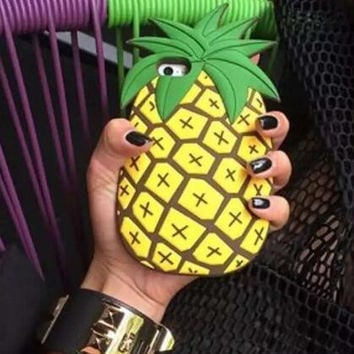 Original Pineapple Silicone iPhone 5s 6 6s Plus Case Cover Free Gift Box 40