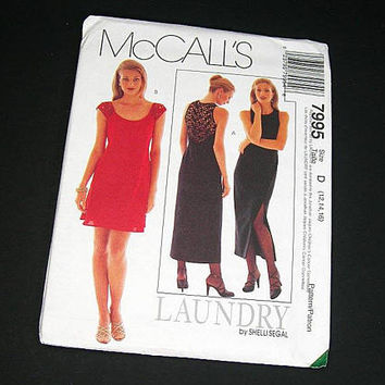 McCalls 1995 Sewing Pattern for Evening Dress - Uncut Misses Sizes 12, 14, 16 - Short or Long Dress - Vintage Fashion Pattern - Evening Wear