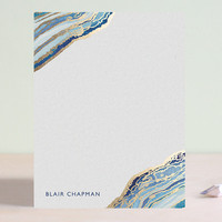 Gilt Agate Foil-Stamped Stationery by Kaydi Bishop | Minted
