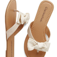 ModCloth Darling Fancy You Soon Sandal in Ivory