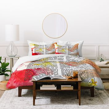 Susanne Kasielke Love Dictionary Art Duvet Cover
