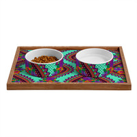 Aimee St Hill Ivy Teal Pet Bowl and Tray