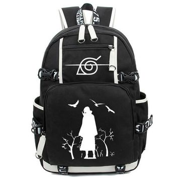 Japanese Anime Bag New HOT-SALE Printing Cartoon Naruto Backpack  Akatsuki Sharingan women men Laptop Bags Teenage Girl Canvas Travel bag AT_59_4
