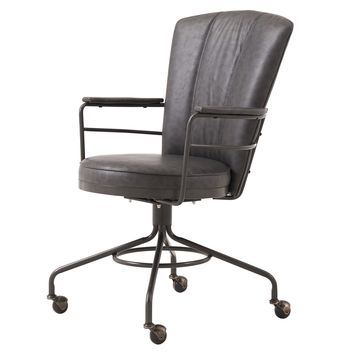 Lionel PU Leather Chair Vintage Ore Gray