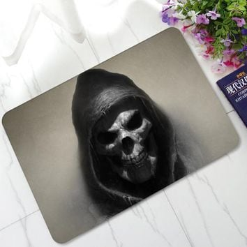 3D Evil Demon Eyes Skull Mats Anti-Skid Rubber Door Mats Kitchen Bathroom Hallway Welcome Decorative Area Rugs and Carpet - Color 6, 45x70cm