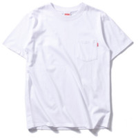 """SUPREME""pure color sweethearts outfit short sleeve T-shirt"