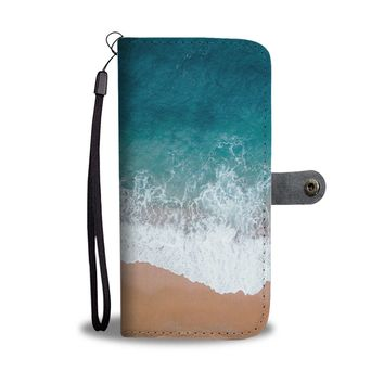 Beach Waves Phone Wallet Case