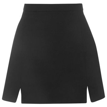A-Line Notch Hem Skirt | Topshop