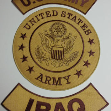 US ARMY Iraq War Full Back Patches set for Biker motorcycle vest or Jacket New