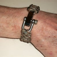 Unisex Paracord Survival Bracelets With Silver Adjustable Clasp - Made to Order - Choose Your Size and Color