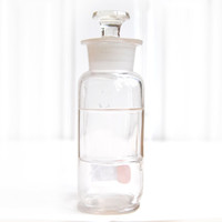 """FREE SHIPPING Vintage Square Apothecary 7"""" Bottle Jar w/ Ground Glass Stopper Lid E027"""