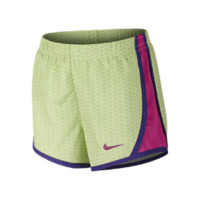 Nike Tempo Graphic Preschool Girls' Running Shorts Size 6X (Green)
