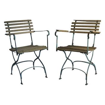 Pre-owned Classic French Bistro Chairs- Pair