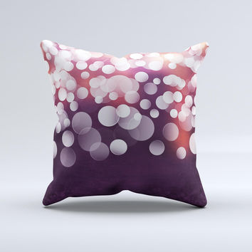 Dark Purple with Glistening Unfocused Light Ink-Fuzed Decorative Throw Pillow