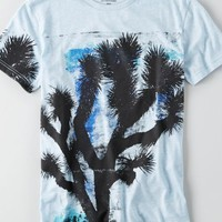 AEO Men's Palm Tree Graphic T-shirt (Medium Heather Grey)