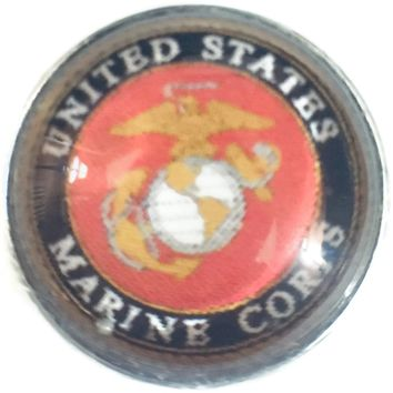 US Military Marine Corps 18MM - 20MM Fashion Snap Jewelry Snap Charm