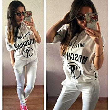 Casual Summer Hot Sale Print Sportswear Set [9115641991]