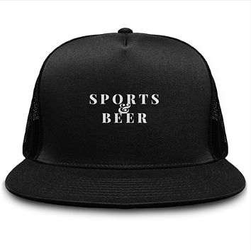 Sports And Beer Trucker Snapback Hat