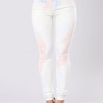 Sugar Time Jeans - White Multi