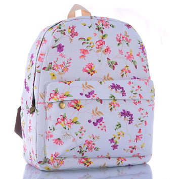 Canvas Pastoral Style Backpack = 4887990468