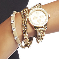 Bling Wrap Chrono Watch | Wet Seal
