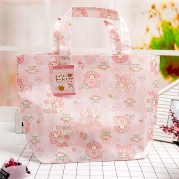 Usa Le Di Cartoon Waterproof Handbag, Hello Kitty Girl Lunch Box Thermal Insulation Bag Shopping, Portable