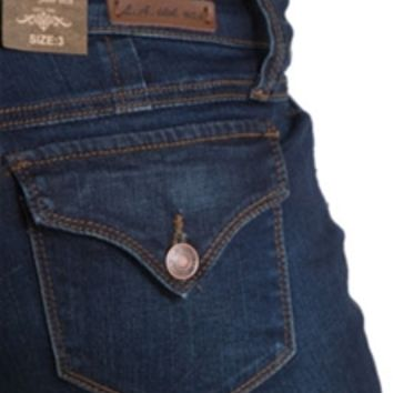 LA Idol Jeans Basic Skinny with Flap Pockets 5895NR