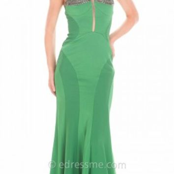 Sweetheart Linear Bandage Prom Gown by Atria