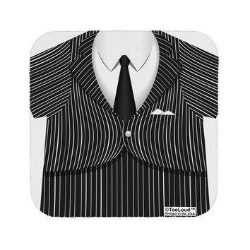 Pinstripe Gangster Jacket Printed Costume Coaster All Over Print