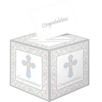 Blessed Day Religious Card Box Holder 9in x 9in | Party City