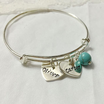 Mothers jewelry bracelet, Personalized Mothers bracelet, Children names with Mother bracelet