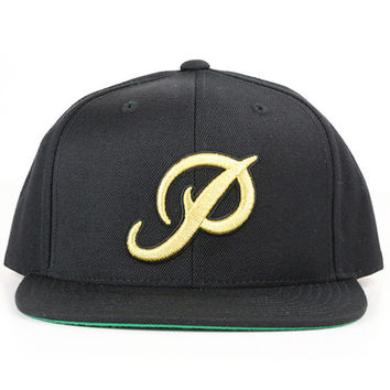 Primitive Apparel Classic P Gold Snapback Starter Hat - Black
