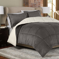 The Seasons®  Reversible Down Alternative Comforter Set in Charcoal