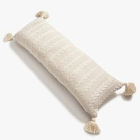 Beige Cable Knit Body Pillow