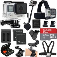 GoPro HERO4 BLACK Moto Bundle with Memory Card