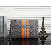 Coach Trending Stylish Office Bag Leather Handbag Purse Wallet Grey I-a-BBPFCJ