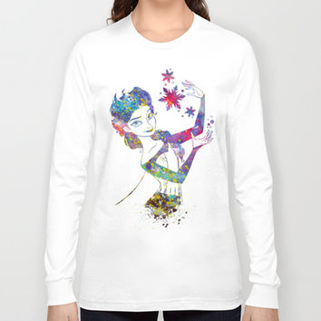 Queen Elsa from Frozen Long Sleeve T-shirt by Bitter Moon