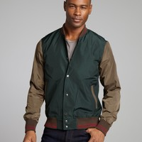 Shades of Grey forest and army waterproof baseball jacket | BLUEFLY up to 70 off designer brands