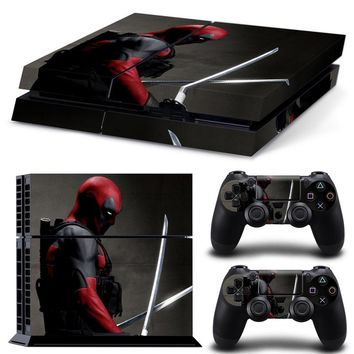 For Wade Winston Wilson PS4 Console Stickers Dead Pool Decal Skin Stickers For Playstation PS4 Console & 2 Skins for Controller