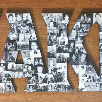 Photo Collage Letter, Letter Photo Collage, Wood Letters, Personal Collage, Photo Collage, Personal Photo Collage, Custom Photo Collage, Art