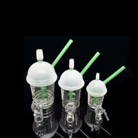 McDonald Cup Spritech Tree Cup Starbuck Cup Original Opaque concentrate oil rig glass bong glass dome and nail Hookah glass water pipe