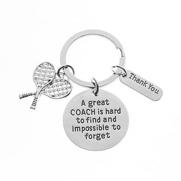Tennis Great Coach is Hard to Find Keychain