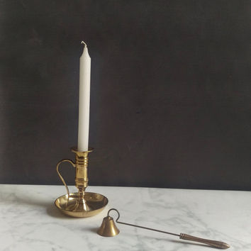 Vintage Brass Candle Snuffer/ Vintage Candle Snuffer/ Antique Candle Snuffer