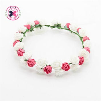 Haimeikang 1PCS Hair Ornaments  Gum Hair Female Studs Foam  Flower Crown Headbands Girls Hair Accessories  for Women