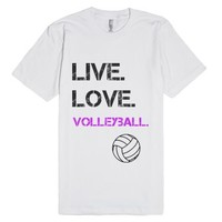 Live Love Volleyball-Unisex White T-Shirt