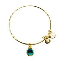 Alex and Ani December Birthstone Charm Bangle