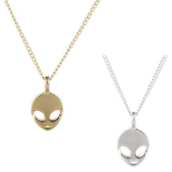 Unisex Fashion Jewelry Believe In Yourself And Aliens Necklace Pendant For Women