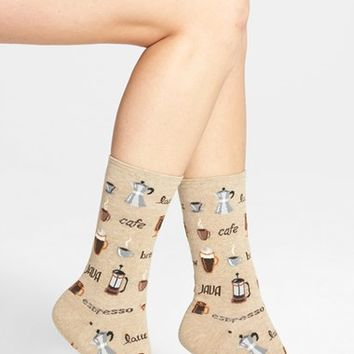 Women's Hot Sox 'Coffee' Crew Socks