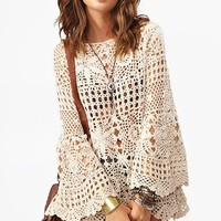 Ashbury Crochet Dress - Cream