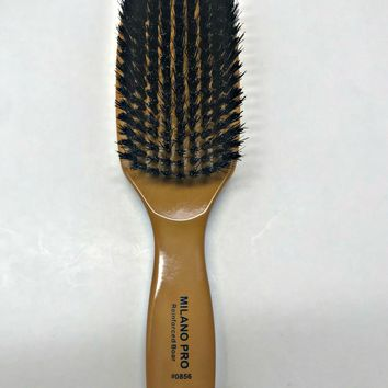 MILANO PRO REINFORCED BOAR BRISTLE BRUSH LONG HANDLE BS